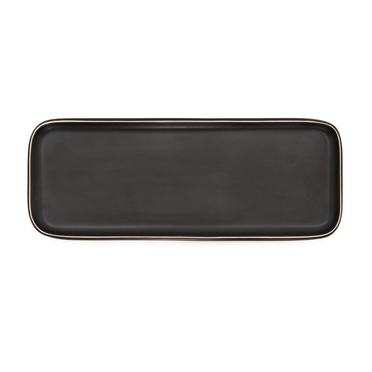 Essential Tray- Matte Black/White Edge
