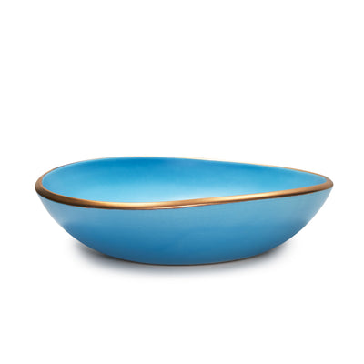 Essential Serving Bowl- Turquoise & Gold