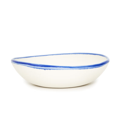 Essential Serving Bowl - Blue Banded Rim