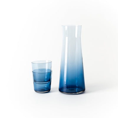 Hand-Blown Midnight Glass Carafe