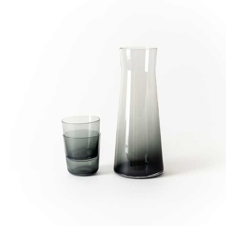 Hand-Blown Charcoal Glass Carafe