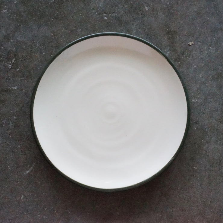 "Gramercy Plates: 9"" with Banded Rim Design"