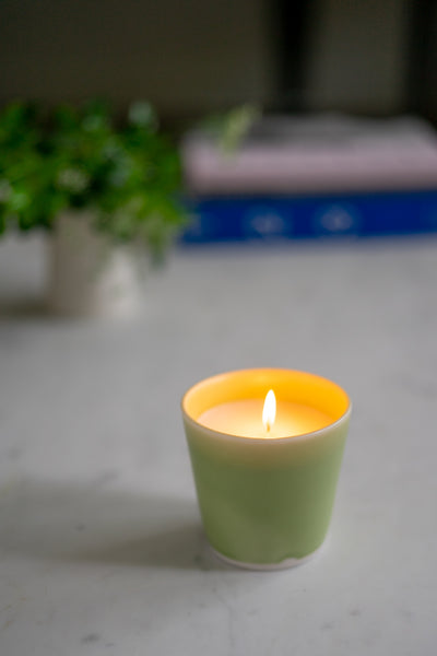 Ltd. Edition Magnolia Scented Hand-Poured Candle: Sage Green