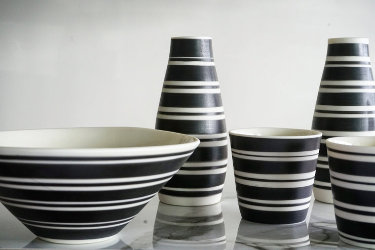 Gramercy Milk Vase - Banded Stripes