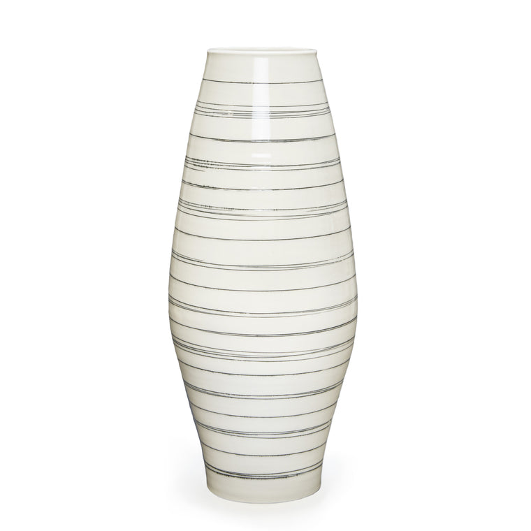 Ltd. Edition Hand-Thrown Narrow Lines Vase
