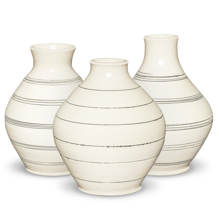 Ltd. Edition Hand-Thrown Single Lines Vase