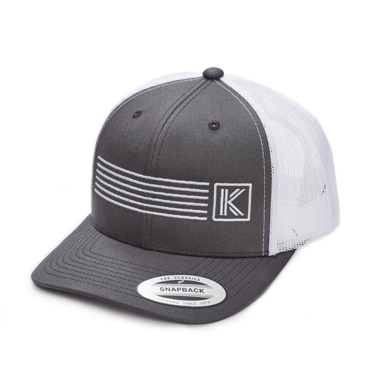 KK Studios Mesh Trucker Hat- Grey/White