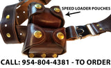 "TOM'S ""MODIFIED DOC HOLLIDAY"" - CUSTOM HAND-MADE DOUBLE THICK REINFORCED LEATHER LARGE VERTICAL SEMI-AUTO OR REVOLVER SHOULDER HOLSTER RIG. CLICK HERE."
