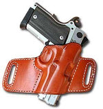 "TOM'S ""DISCREET BIKINI HOLSTER"" MUZZLE EXPOSED. DOUBLE THICK STEEL MESH REINFORCED LEATHER"