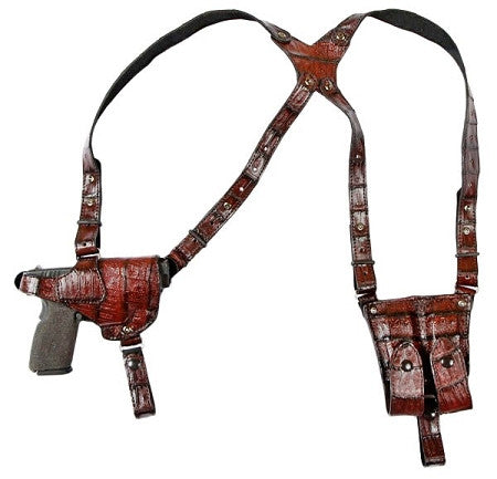 "TOM'S ""EXOTIC MASTERPIECE"" - CUSTOM HAND-MADE DOUBLE THICK REINFORCED LEATHER SHOUDLER HOLSTER, EXOTIC SKIN / YOUR PREFERENCE. PRICE BASED ON AVAILABILITY. CALL 954-804-4381."