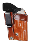 "TOM'S ""INSIDE THE WAIST OR POCKET HOLSTER"" GREAT FOR SNUB NOSED REVOLVERS. DOUBLE THICK STEEL MESH REINFORCED LEATHER WITH STEEL CLIP"