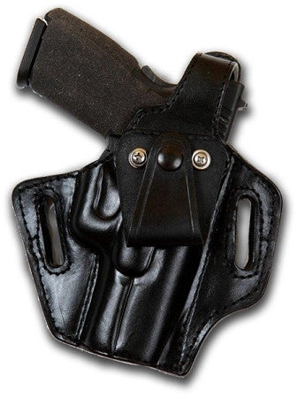 "TOM'S ""EITHER INSIDE OR OUTSIDE THE WAIST HOLSTER"" DOUBLE THICK STEEL MESH REINFORCED LEATHER"