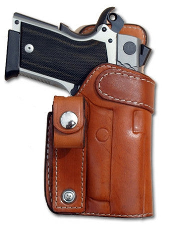 "TOM'S ""INSIDE THE WAIST BAND - IWB - EXTRA LEATHER. INCLUDES BELT LOOP. DOUBLE THICK STEEL MESH REINFORCED LEATHER"