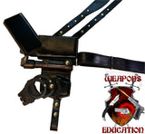 "TOM'S ""MULTIPURPOSE CUSTOM LEATHER SHOULDER HOLSTER RIG"" – THIS MAY BE CUSTOMIZED TO YOUR LIKING. CALL FOR DETAILS: 954-804-4381"
