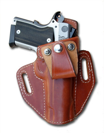 "TOM'S ""HYBRID INSIDE THE WAIST - IWB, OR OUTSIDE THE WAIST HOLSTER"" DOUBLE THICK STEEL MESH REINFORCED LEATHER"