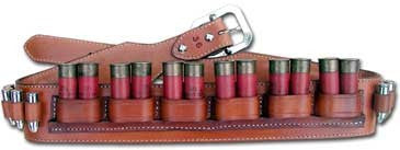 "TOM'S ""SHOTGUN DUAL SHELL BELT"" - WITH INDIVIDUAL STITCHED HANDGUN AMMO CARRIERS"
