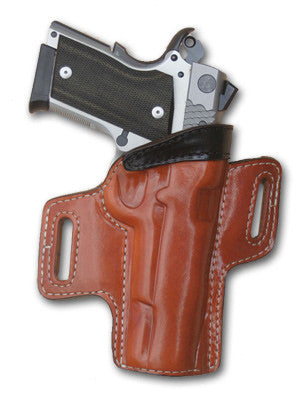 "TOM'S ""TWO TONE SIDE-ARM HOLSTER"" DOUBLE THICK STEEL MESH REINFORCED LEATHER"