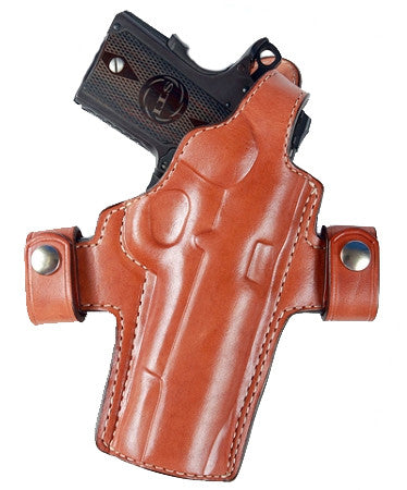 "TOM'S ""CUSTOM THUMB BREAK / BELT LOOPED - KEEPERS HOLSTER"" DOUBLE THICK STEEL MESH REINFORCED LEATHER"