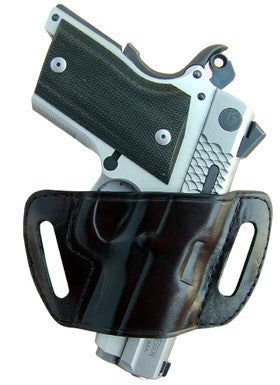 "TOM'S ""ULTRA COMPACT HOLSTER"" DOUBLE THICK STEEL MESH REINFORCED LEATHER"