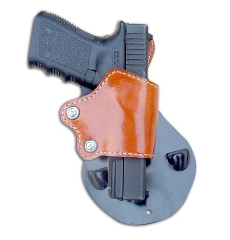 "TOM'S ""BIKINI PADDLE HOLSTER"" DOUBLE THICK STEEL MESH REINFORCED LEATHER"