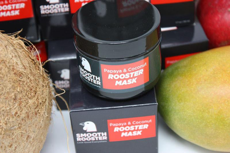 Rooster Mask - Smooth Rooster - Papaya & Coconut Rooster Mask