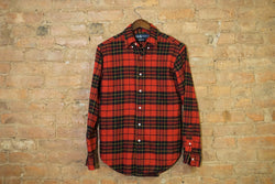 Vintage Small Ralph Lauren Polo Red & Black Flannel - nboshop™