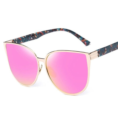 Pink on Yellow Sunglasses