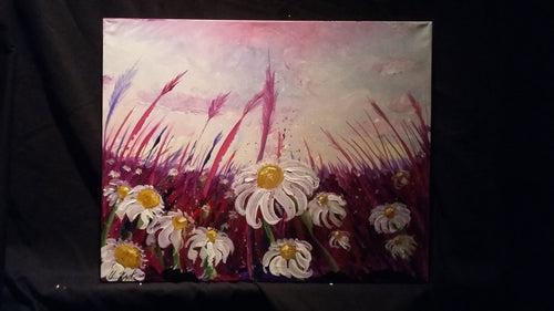 Daisies at twilight