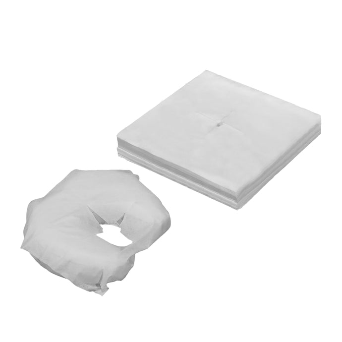 Disposable Face Cradle Covers, Face Pillow Covers, Headrest Covers for Massage Tables, Medical Tables, and Facial Beds - Pack of 200