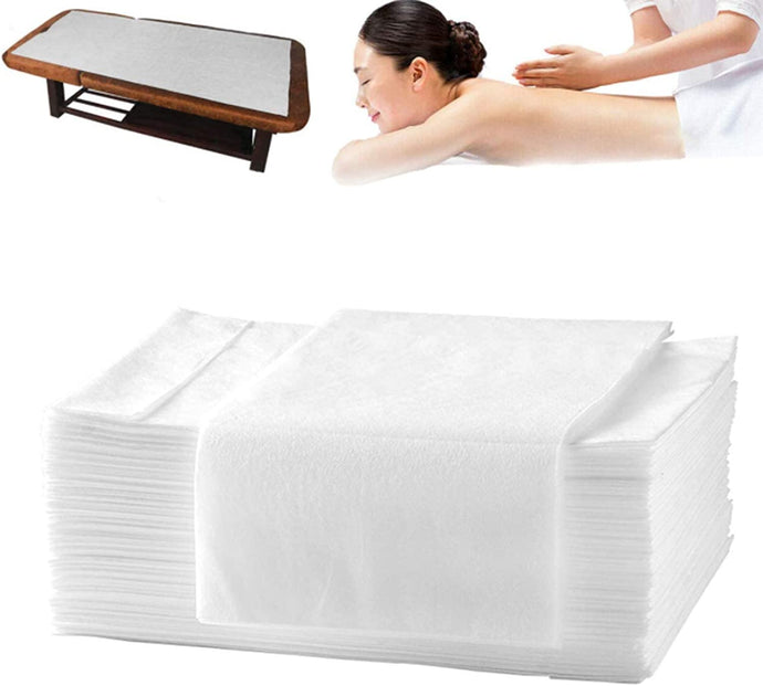 Massage Table Sheet, Bed Cover, Non-woven, Disposable - 190cm x 110cm per sheet - 30gram thickness - Folded - 150 sheets - 1 Box