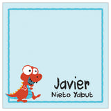 Red Dinosaur Kiddie Gift Tag