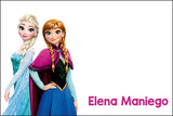 Frozen Anna and Elsa gift tag