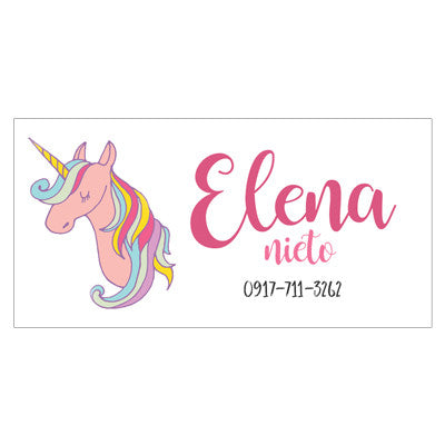 Pink Unicorn Themed Kiddie Label Pepa Prints