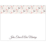 Wheel Pattern Personalized Boxed Note Cards