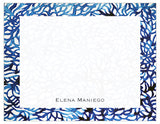 Blue Sahara Bordered Personalized Note Cards