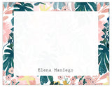 Lovely Tropical Bordered Personalized Note Cards