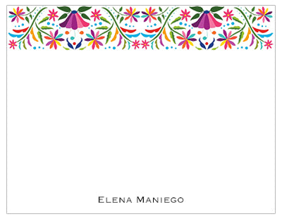 Mexican Floral Band Personalized Note Cards