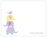 Cutesy Elephants Personalized Note Cards