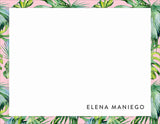 Tropical Blush Personalized Note Cards