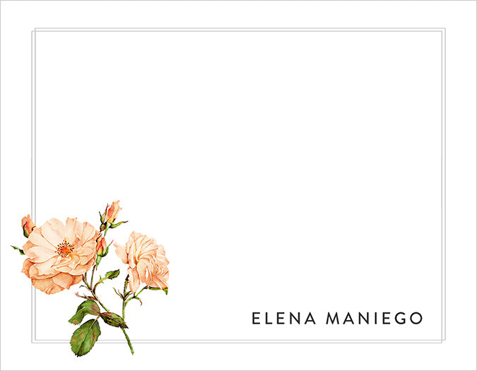 Botanical Flora Personalized Note Cards