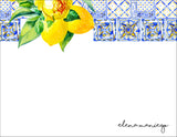 Spanish Tiles with a Twist of Lemon Notecard
