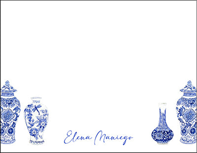 Chinoiserie Blue Jars Notecards