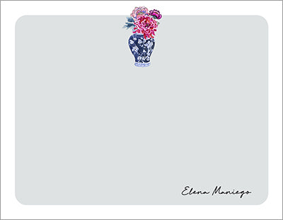 Beautiful Ming Vase Chinoiserie Notecards