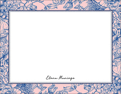 Pink Toile Chinoiserie Notecards