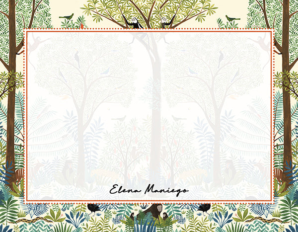 Jungles of Mindoro Personalized Notecards