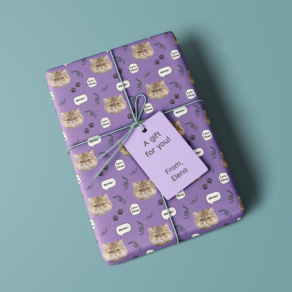 My Cute Pet Personalized Gift Wrapping Paper