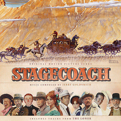 STAGECOACH /THE LONER  (2013 Reissue)-Original Soundtracks by Jerry Goldsmith