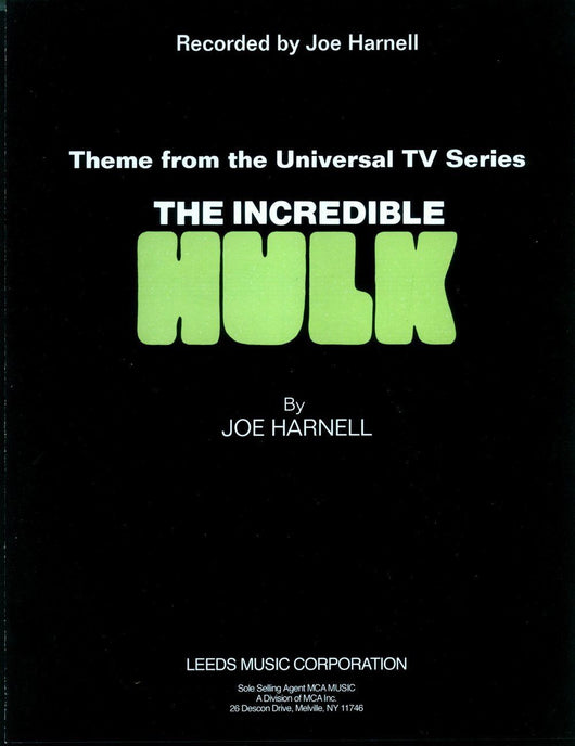 Theme From THE INCREDIBLE HULK - Sheet Music by Joe Harnell