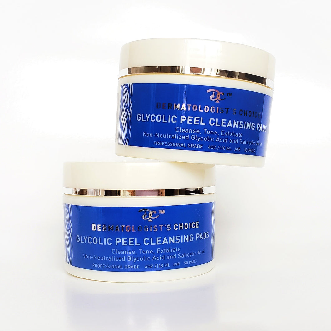 Bundle: 2 pack Glycolic Peel Cleansing Pads