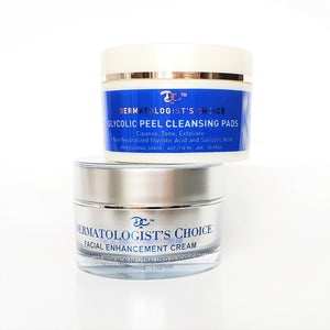 Glycolic Peel Cleansing Pads + Facial Enhancement Cream Set